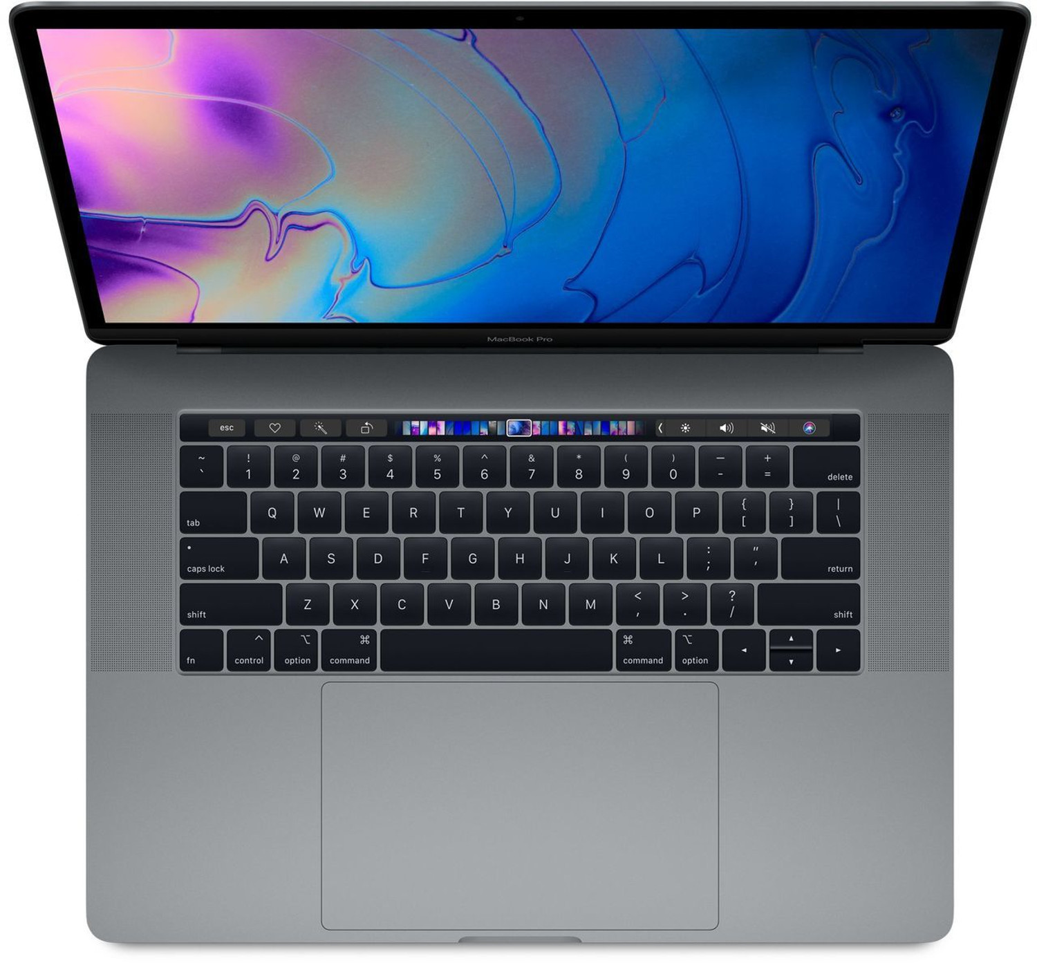 15-inch MacBook Pro with Touch Bar: 2.2GHz 6-core 8th-generation IntelCorei7 processor, 256GB - Silver(MR962SA/A)