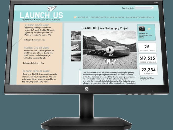 HP V190 18.5-inch LED Monitor (2NK17AA)