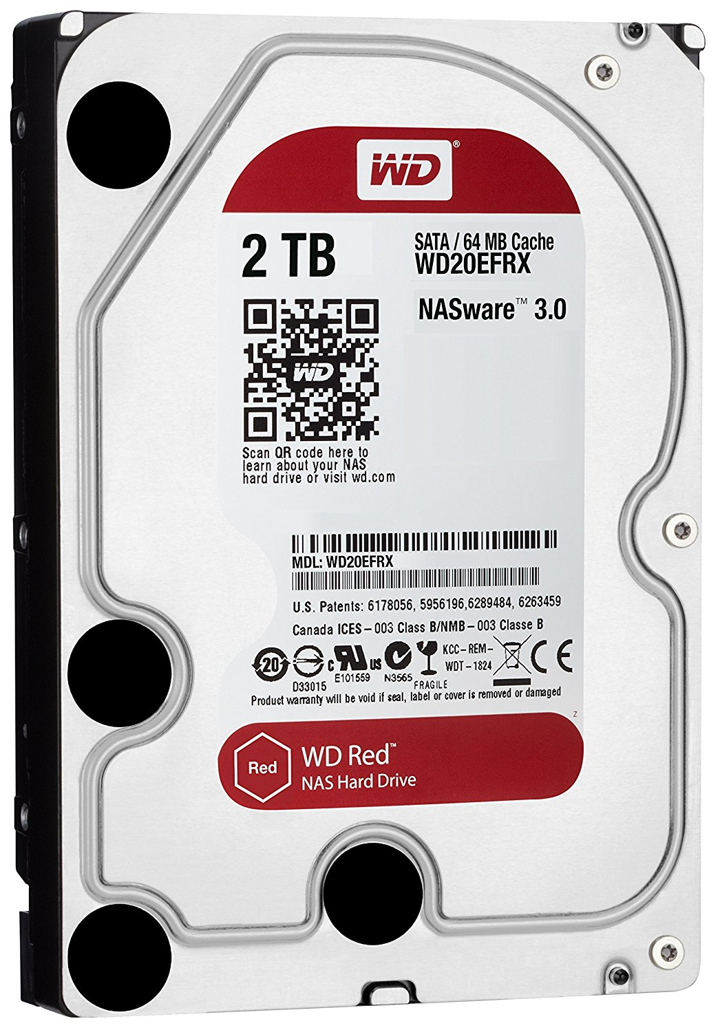 Ổ cứng gắn trong DESKTOP WD Red 2TB, 3.5, SATA 3, 256MB Cache, 5400RPM, 3Y WTY_WD20EFAX