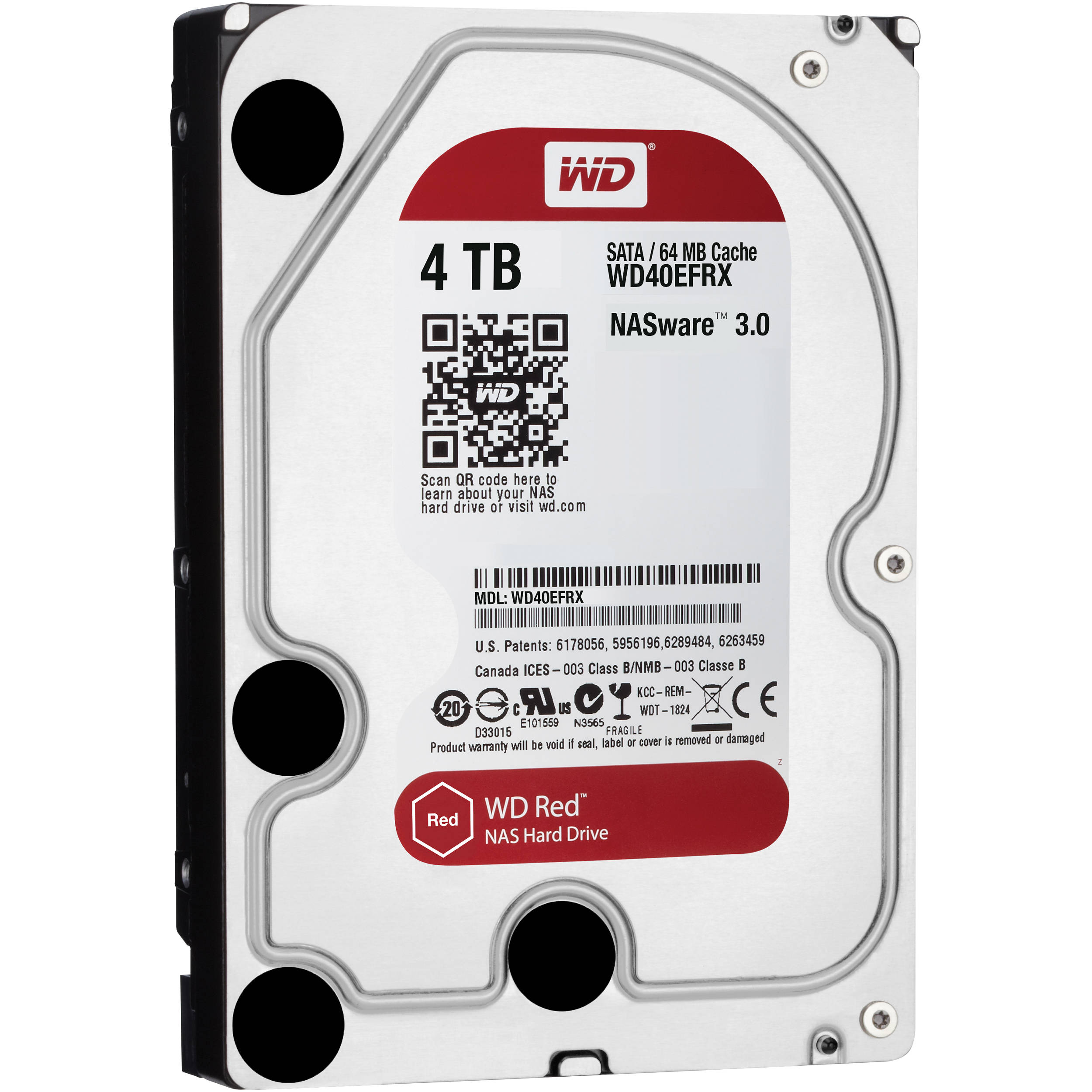 Ổ cứng gắn trong DESKTOP WD Red 4TB, 3.5, SATA 3, 256MB Cache, 5400RPM, 3Y WTY_WD40EFAX