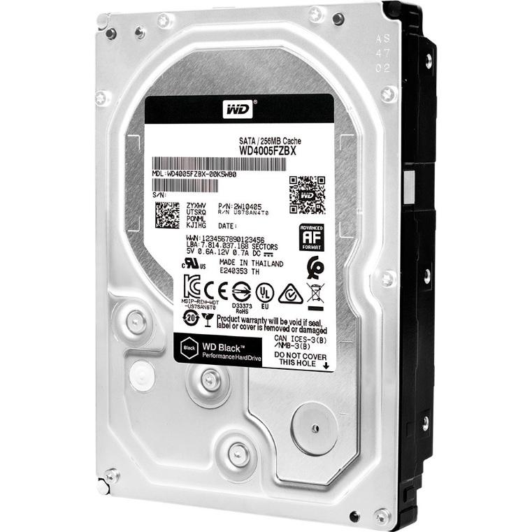 Ổ cứng gắn trong DESKTOP WD Black 6TB, 3.5, SATA 3, 256MB Cache, 7200RPM, 5Y WTY_WD6003FZBX
