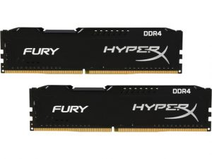 Kingston 16GB 2666Mhz DDR4 CL16 Fury HyperX Black