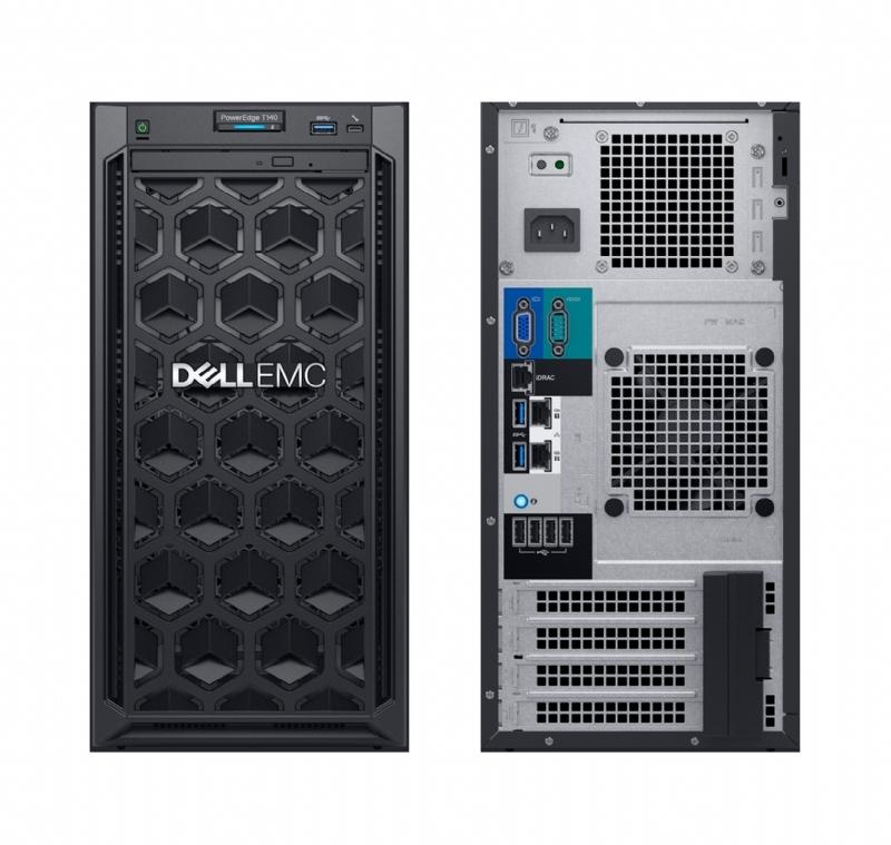 Dell PE T140 (Mini Tower)/E-2134/8GB/1TB/DVDRW/BC5720 DP 1GB/iDRAC9 Ba/365W/3Yr Pro