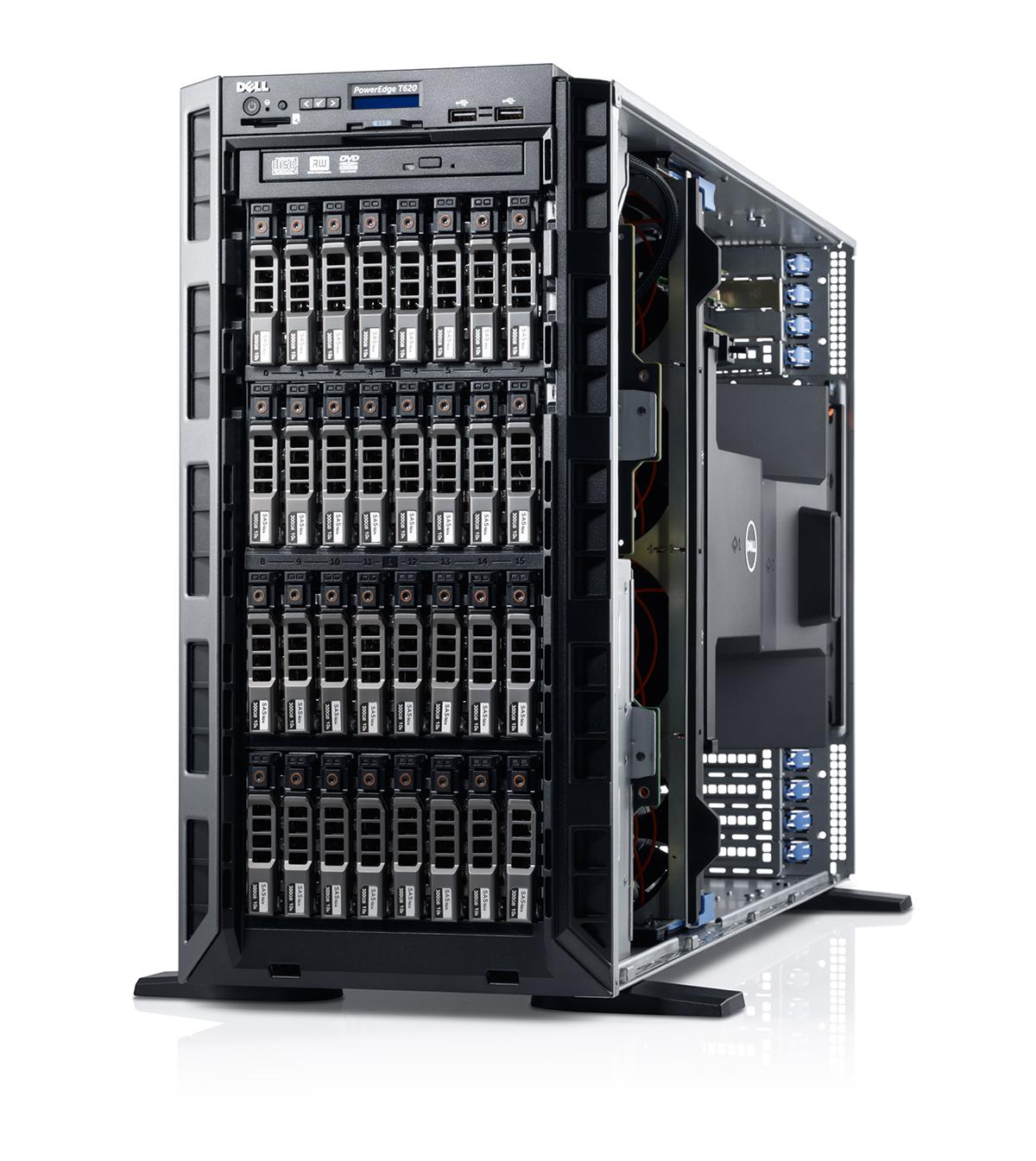 Dell PowerEdge T630 E5-2609 v4, 8GB, non-HDD 18x3.5'' hot plug, DVDRW, H730, 4x1GBE, iDRAC8 Express, 2x750W, 3 Yrs Pro