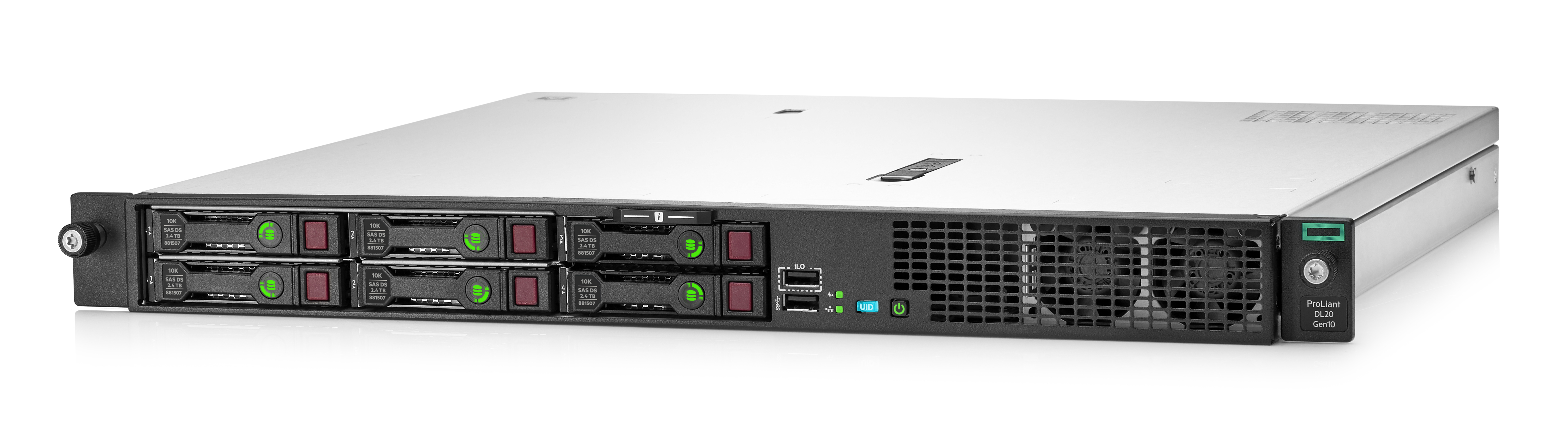DL20 Gen10 4SFF E2234 (3.6GHz/4-core/71W)/ 16GB/ 290W PS/ Non HDD/ S100i/ 290W PS/ 3Y WTY