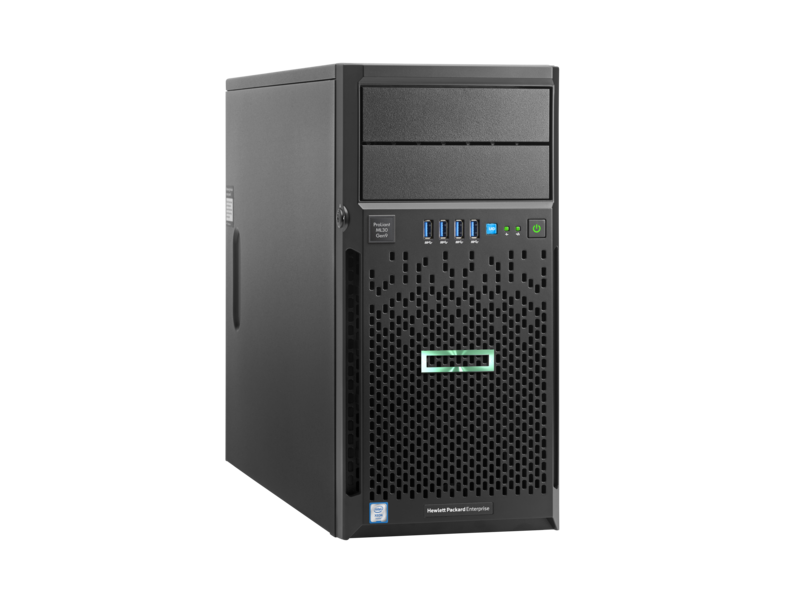 HPE ML30 G9  E3-1220v6(3GHz/4Cores/8MB) ,4LFF Hot-Plug, 8GB, B140i SATA Non HDD, 350W PS,  DVD