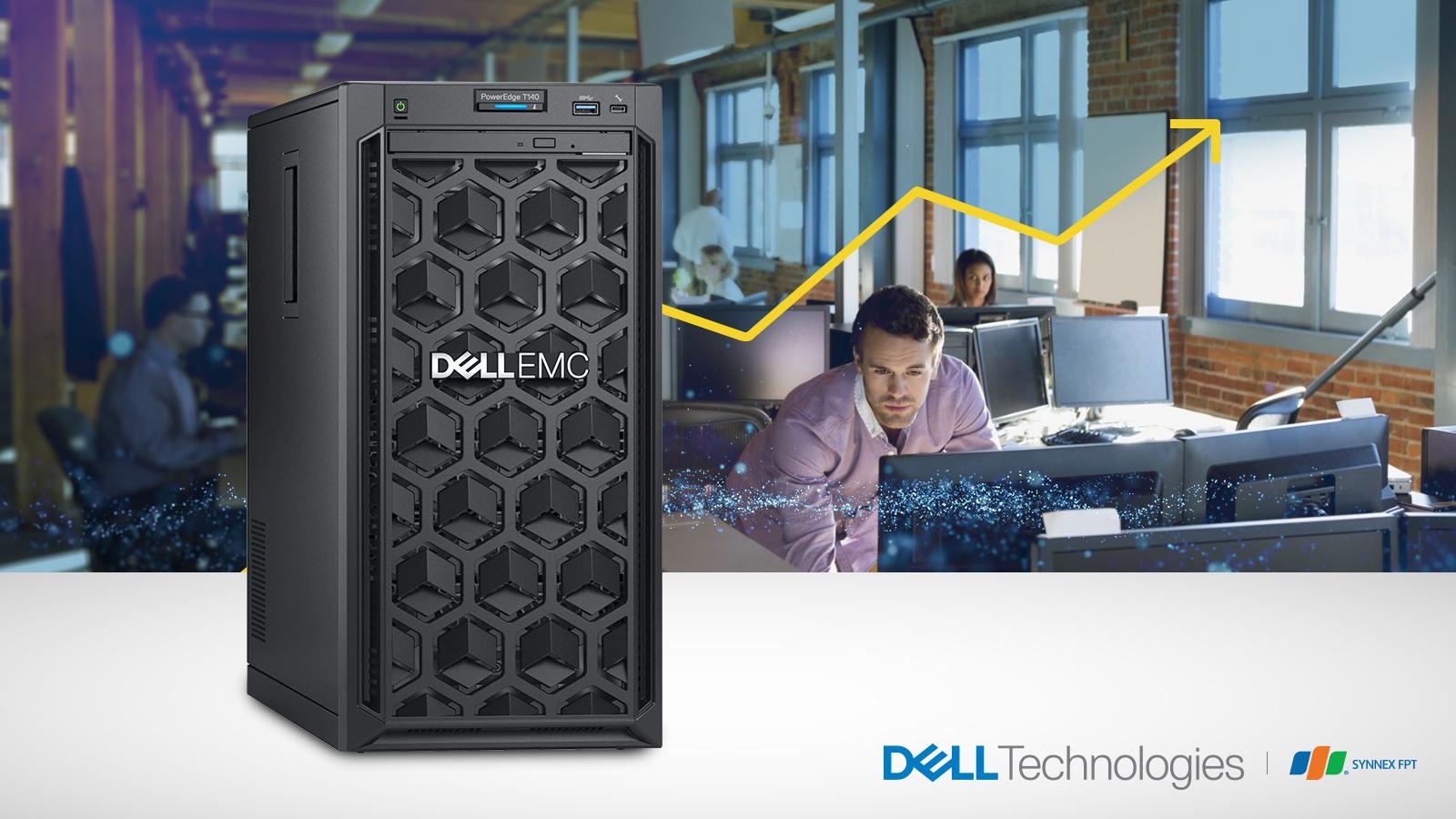 Máy chủ DellEMC PowerEdge T140 - Máy chủ đa năng tầm trung mạnh mẽ