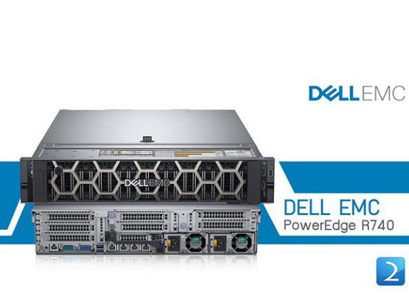 Máy chủ Dell EMC PowerEdge R740 tối ưu hóa cho tăng tốc khối lượng công việc lớn của doanh nghiệp