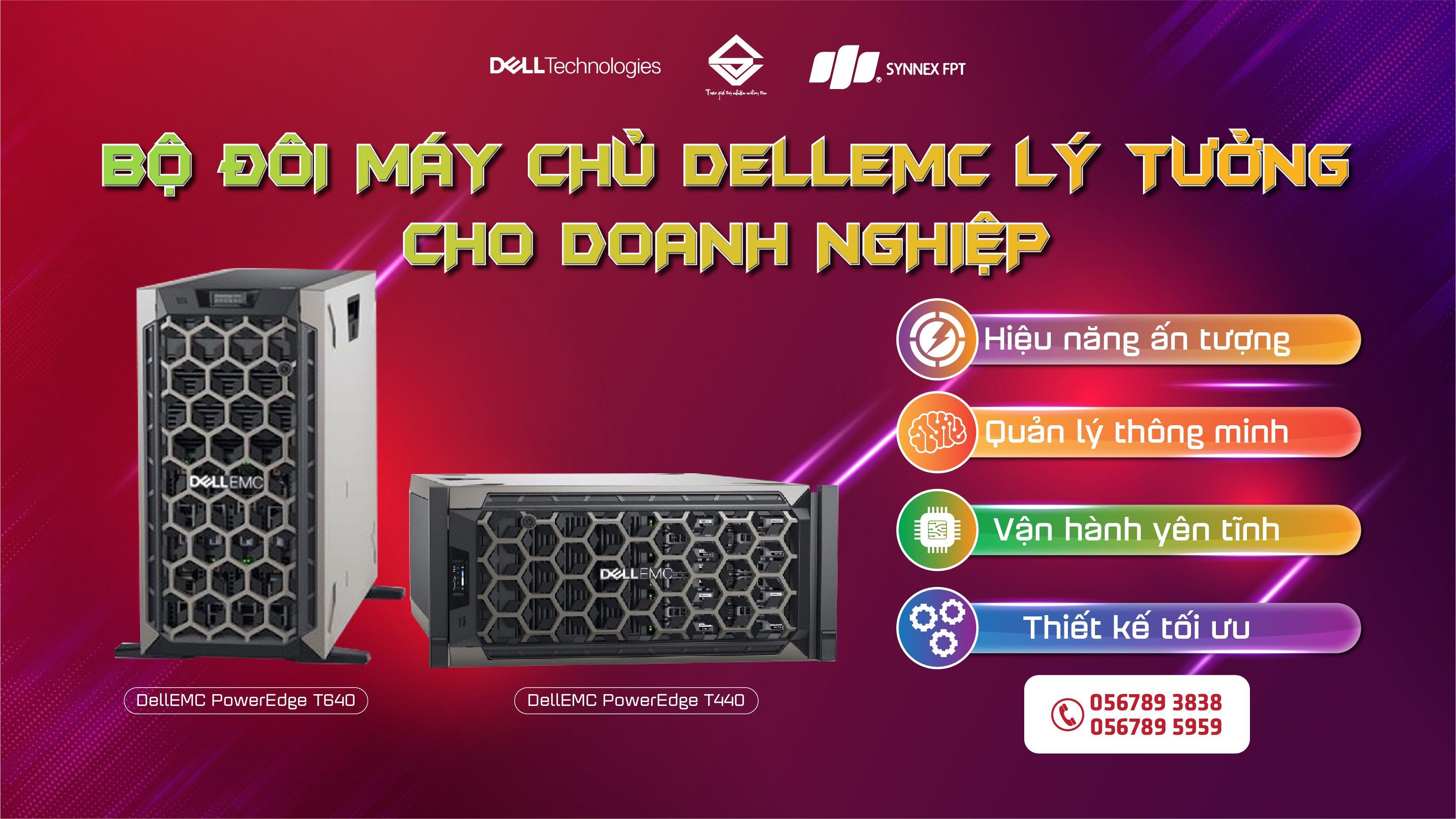 Bộ đôi máy chủ DellEMC PowerEdge lý tưởng cho doanh nghiệp